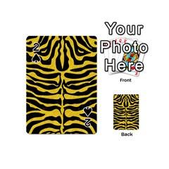 Skin2 Black Marble & Yellow Colored Pencil (r) Playing Cards 54 (mini)  by trendistuff