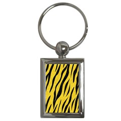 Skin3 Black Marble & Yellow Colored Pencil Key Chains (rectangle)  by trendistuff