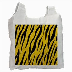 Skin3 Black Marble & Yellow Colored Pencil Recycle Bag (one Side) by trendistuff