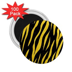 Skin3 Black Marble & Yellow Colored Pencil (r) 2 25  Magnets (100 Pack)  by trendistuff