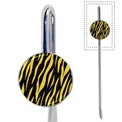 Skin3 Black Marble & Yellow Colored Pencil (r) Book Mark by trendistuff