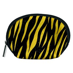 Skin3 Black Marble & Yellow Colored Pencil (r) Accessory Pouches (medium)  by trendistuff