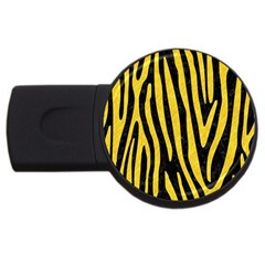 Skin4 Black Marble & Yellow Colored Pencil Usb Flash Drive Round (4 Gb) by trendistuff