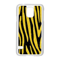 Skin4 Black Marble & Yellow Colored Pencil Samsung Galaxy S5 Case (white)