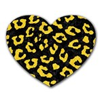 SKIN5 BLACK MARBLE & YELLOW COLORED PENCIL Heart Mousepads Front