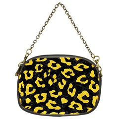 Skin5 Black Marble & Yellow Colored Pencil Chain Purses (one Side)  by trendistuff