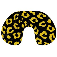 Skin5 Black Marble & Yellow Colored Pencil Travel Neck Pillows by trendistuff