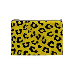 Skin5 Black Marble & Yellow Colored Pencil (r) Cosmetic Bag (medium)  by trendistuff