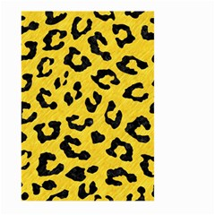 Skin5 Black Marble & Yellow Colored Pencil (r) Large Garden Flag (two Sides) by trendistuff