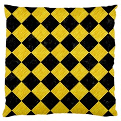 Square2 Black Marble & Yellow Colored Pencil Standard Flano Cushion Case (one Side) by trendistuff