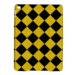 Square2 Black Marble & Yellow Colored Pencil Ipad Air 2 Hardshell Cases