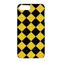Square2 Black Marble & Yellow Colored Pencil Apple Iphone 8 Plus Hardshell Case