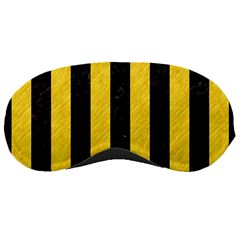 Stripes1 Black Marble & Yellow Colored Pencil Sleeping Masks by trendistuff