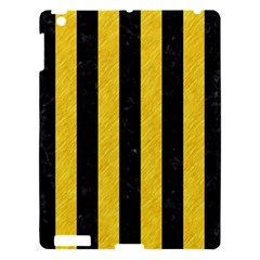 Stripes1 Black Marble & Yellow Colored Pencil Apple Ipad 3/4 Hardshell Case by trendistuff