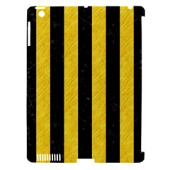 Stripes1 Black Marble & Yellow Colored Pencil Apple Ipad 3/4 Hardshell Case (compatible With Smart Cover)