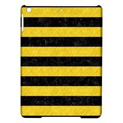 Stripes2 Black Marble & Yellow Colored Pencil Ipad Air Hardshell Cases by trendistuff
