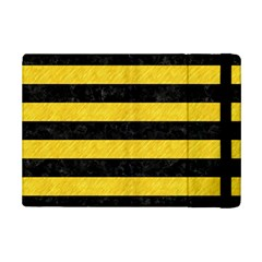 Stripes2 Black Marble & Yellow Colored Pencil Ipad Mini 2 Flip Cases by trendistuff