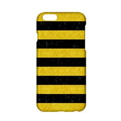 Stripes2 Black Marble & Yellow Colored Pencil Apple Iphone 6/6s Hardshell Case by trendistuff