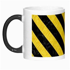 Stripes3 Black Marble & Yellow Colored Pencil Morph Mugs by trendistuff