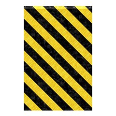 Stripes3 Black Marble & Yellow Colored Pencil Shower Curtain 48  X 72  (small)  by trendistuff
