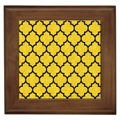 Tile1 Black Marble & Yellow Colored Pencil Framed Tiles by trendistuff