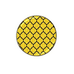 Tile1 Black Marble & Yellow Colored Pencil Hat Clip Ball Marker by trendistuff