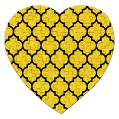 Tile1 Black Marble & Yellow Colored Pencil Jigsaw Puzzle (heart)