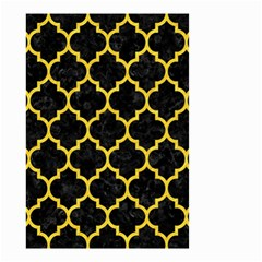 Tile1 Black Marble & Yellow Colored Pencil (r) Small Garden Flag (two Sides) by trendistuff