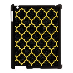 Tile1 Black Marble & Yellow Colored Pencil (r) Apple Ipad 3/4 Case (black) by trendistuff