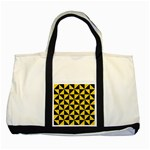 TRIANGLE1 BLACK MARBLE & YELLOW COLORED PENCIL Two Tone Tote Bag Front