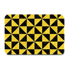 Triangle1 Black Marble & Yellow Colored Pencil Plate Mats by trendistuff