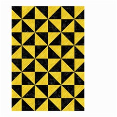 Triangle1 Black Marble & Yellow Colored Pencil Small Garden Flag (two Sides) by trendistuff