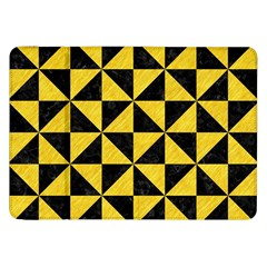 Triangle1 Black Marble & Yellow Colored Pencil Samsung Galaxy Tab 8 9  P7300 Flip Case by trendistuff