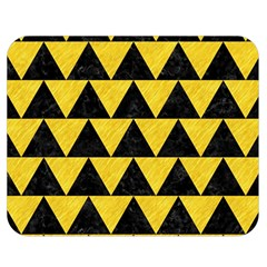 Triangle2 Black Marble & Yellow Colored Pencil Double Sided Flano Blanket (medium)  by trendistuff