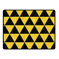Triangle3 Black Marble & Yellow Colored Pencil Fleece Blanket (small) by trendistuff