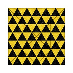Triangle3 Black Marble & Yellow Colored Pencil Acrylic Tangram Puzzle (6  X 6 ) by trendistuff