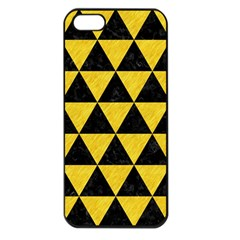 Triangle3 Black Marble & Yellow Colored Pencil Apple Iphone 5 Seamless Case (black) by trendistuff