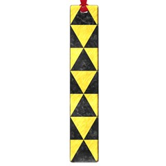 Triangle3 Black Marble & Yellow Colored Pencil Large Book Marks by trendistuff