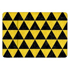 Triangle3 Black Marble & Yellow Colored Pencil Samsung Galaxy Tab 8 9  P7300 Flip Case by trendistuff