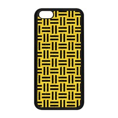 Woven1 Black Marble & Yellow Colored Pencil Apple Iphone 5c Seamless Case (black) by trendistuff