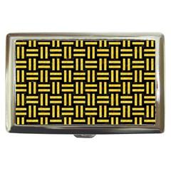 Woven1 Black Marble & Yellow Colored Pencil (r) Cigarette Money Cases by trendistuff
