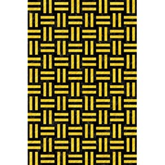 Woven1 Black Marble & Yellow Colored Pencil (r) 5 5  X 8 5  Notebooks by trendistuff