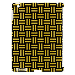 Woven1 Black Marble & Yellow Colored Pencil (r) Apple Ipad 3/4 Hardshell Case (compatible With Smart Cover) by trendistuff