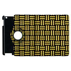 Woven1 Black Marble & Yellow Colored Pencil (r) Apple Ipad 3/4 Flip 360 Case by trendistuff