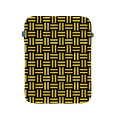 Woven1 Black Marble & Yellow Colored Pencil (r) Apple Ipad 2/3/4 Protective Soft Cases by trendistuff