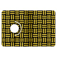 Woven1 Black Marble & Yellow Colored Pencil (r) Kindle Fire Hdx Flip 360 Case by trendistuff