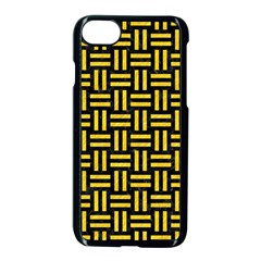 Woven1 Black Marble & Yellow Colored Pencil (r) Apple Iphone 8 Seamless Case (black)