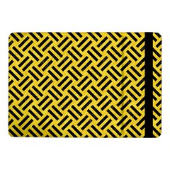 Woven2 Black Marble & Yellow Colored Pencil Samsung Galaxy Tab Pro 10 1  Flip Case by trendistuff