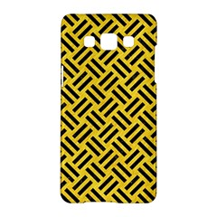 Woven2 Black Marble & Yellow Colored Pencil Samsung Galaxy A5 Hardshell Case  by trendistuff