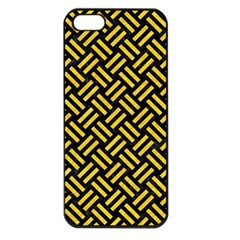 Woven2 Black Marble & Yellow Colored Pencil (r) Apple Iphone 5 Seamless Case (black) by trendistuff